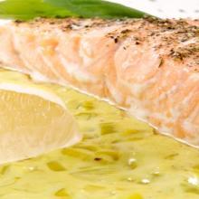 Dos de saumon et sa fondue de poireaux fait maison